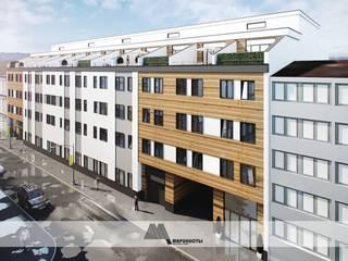 Эскизный проект социального жилья в городе Франкфурт на Майне, Германия от Архитектурное бюро 'Маринисты' Модерн