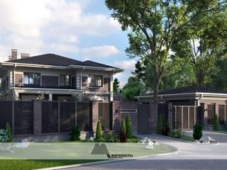 Кирпичный дом с классическими элементами от Архитектурное бюро 'Маринисты' Классический