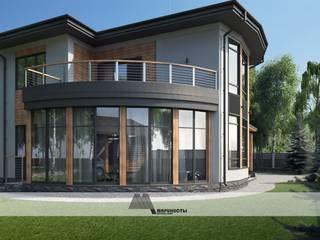Реконструкция существующего дома (Разработка Фасада) Челябинск от Архитектурное бюро 'Маринисты' Модерн