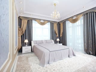 Classic style bedroom by ДИЗАЙНЕР ИНТЕРЬЕРА ИРИНА МАКШАНЦЕВА Classic