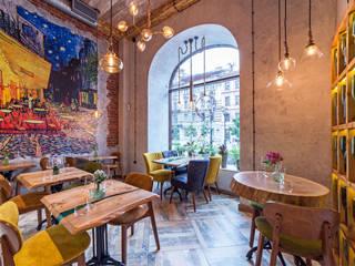 Ресторан Вайн Гог от Design Studio BLUE BIRD DESIGN by Irina Agafonova Эклектичный