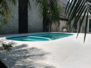 Rebello Pedras Decorativas Garden Pool Concrete White