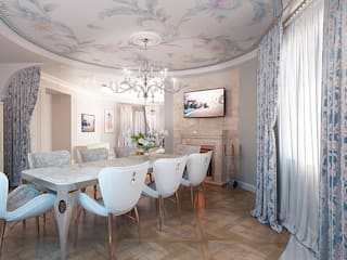 Classic style dining room by ДИЗАЙНЕР ИНТЕРЬЕРА ИРИНА МАКШАНЦЕВА Classic