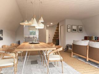 Modern Living Room by KRISZTINA HAROSI - ARCHITECTURAL RENDERING Modern
