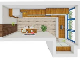 Ver a casa antes de começar... Projetos 3D por SweetYellow Moderno