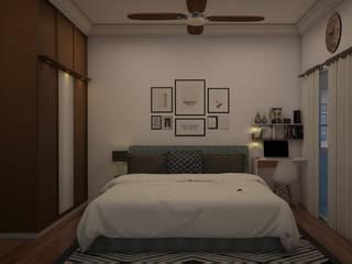 BM Mangolia_2BHK Modern style bedroom by Grid Studio Modern