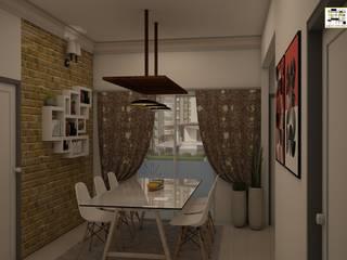 BM Mangolia_2BHK Modern dining room by Grid Studio Modern