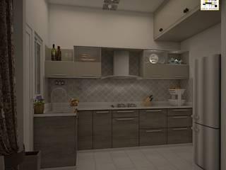 BM Mangolia_2BHK Modern kitchen by Grid Studio Modern