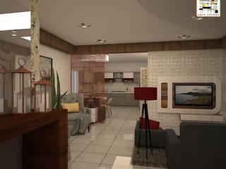 KLASIK LANDMARK_3BHK Modern living room by Grid Studio Modern