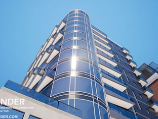 Architectural Rendering Modern hotels by Vrender.com Modern