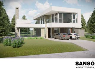 Casa Villa Robles- en construccion de Sansó Arquitectura