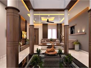 Pasillos, vestíbulos y escaleras clásicas de Monnaie Interiors Pvt Ltd Clásico