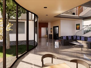 Minimalist Courtyard Home Modern living room by MAP Architects Modern