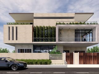 Minimalist Courtyard Home by MAP Architects Modern