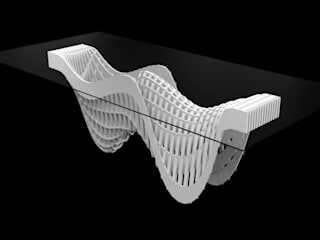 Parametric Conference Table: modern  by Studio of Creative Chaos,Modern