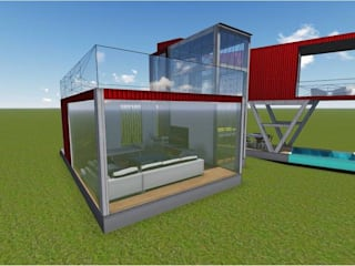 Shipping Container Farmhouse: modern  by Studio of Creative Chaos,Modern