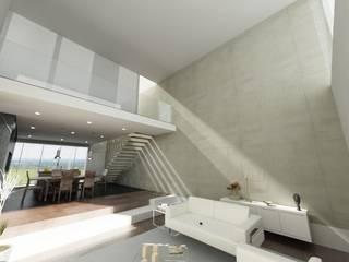 Moradia Unifamiliar Guifões, Matosinhos Salas de estar modernas por rem-studio Moderno