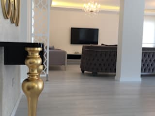 levent tekin iç mimarlık Modern dining room Wood White