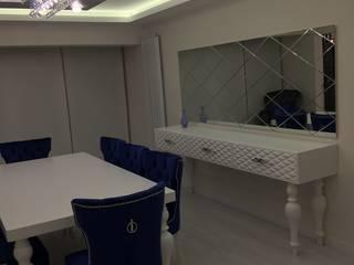 levent tekin iç mimarlık Salas de jantar modernas Madeira Branco