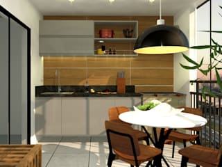 Sacada Gourmet por Lorena Porto - Arquitetura e Interiores Rústico
