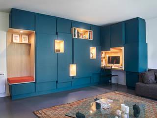 Boulogne Billancourt - Agencement Salon moderne par JULIEN DEVAUX Moderne