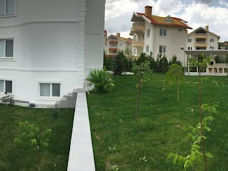 levent tekin iç mimarlık Front yard Concrete Green