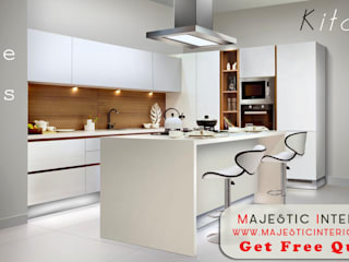 Modular Kitchen in faridabad, interior-designer-in-faridabad Asian style living room by MAJESTIC INTERIORS Asian