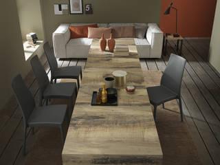 Lo spazio è poco? Fai sparire il tavolo! Sala da pranzo moderna di Mobili a Colori Moderno