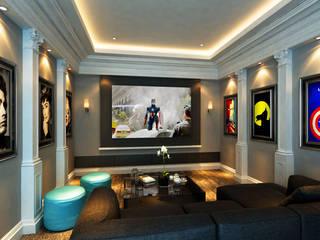 Sunway Vivaldi Penthouse Latitude Design Sdn Bhd Classic style media rooms