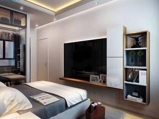 Nội thất Mạnh Hệ — đơn vị thiết kế và thi công uy tín nhất Thiết kế nội thất trọn gói Phòng ngủ nhỏ Cục đá Blue