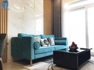 Mạnh Hệ chuyên thi công nội thất chung cư, nhà phố, văn phòng, biệt thự giá ưu đãi Thiết kế nội thất trọn gói Phòng khách Cục đá Blue