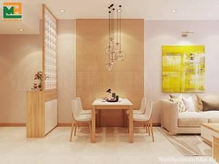 Thiết kế thi công nội thất thông minh giá rẻ trọn gói TP.HCM Thiết kế nội thất trọn gói Phòng ăn phong cách hiện đại Cục đá Blue