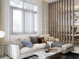 Công Ty Chuyên Thi Công Nội Thất Căn Hộ Chung Cư Tại Tp. Hồ Chí Minh Thiết kế nội thất trọn gói Phòng khách Cao su Brown