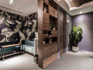 SING萬寶隆空間設計 Dinding & Lantai Modern
