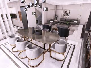 Villa Balat İnci - İç Mekan Tasarımı, Balat-Bursa Modern Yemek Odası CM² Mimarlık ve Tasarım Stüdyosu Modern