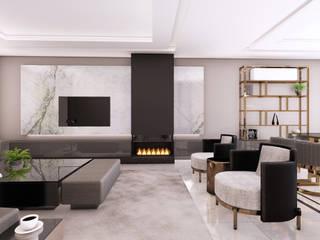 Villa Balat İnci - İç Mekan Tasarımı, Balat-Bursa Modern Oturma Odası CM² Mimarlık ve Tasarım Stüdyosu Modern