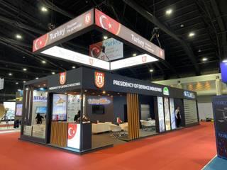 Savunma Sanayi Başkanlığı Fuar Standı Endüstriyel Sergi Alanları Soyut Mimarlık ve Mühendislik Endüstriyel