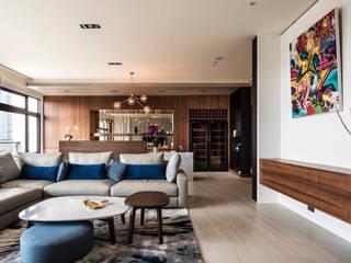 康貝客室內裝修設計 现代客厅設計點子、靈感 & 圖片 根據 康貝客室內裝修股份有限公司 現代風