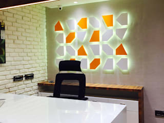 Small office interior Modern offices & stores by anagram studios Modern