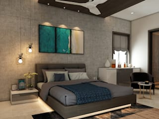 Vision Urjith Luxurious Villas Interior Designs by Pushpa Interiors Modern style bedroom by Pushpa Interiors Modern
