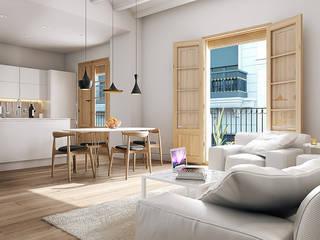 Modern dining room by Baena Casamor Arquitectes BCQ, slp Modern