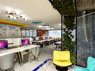 ANTE MİMARLIK Modern office buildings Yellow