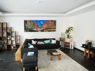 Wandbilder Wohnzimmer: einfache Lärmdämmung für Privatkunden Moderne Wohnzimmer von freiraum Akustik Modern