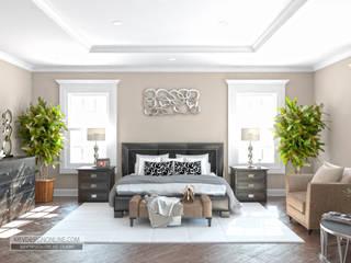 Дизайн дома в Вашингтоне в стиле Modern Traditional Спальня в эклектичном стиле от Kiev Design Online Studio Эклектичный