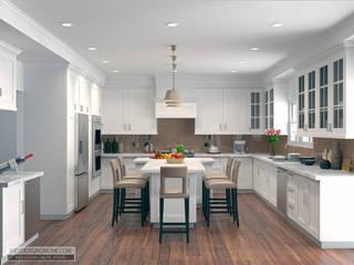 Дизайн дома в Вашингтоне в стиле Modern Traditional Кухни в эклектичном стиле от Kiev Design Online Studio Эклектичный