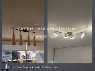 Colibri Serviços Elétricos Ruang Studi/Kantor Modern Bambu White