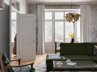 Обсерваторная Гостиная в классическом стиле от Неевроремонт Классический
