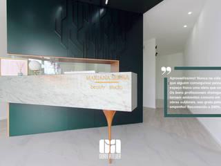Um espaço de estética que seja eu, quem eu sou Lojas e Espaços comerciais modernos por OBRA ATELIER - Arquitetura & Interiores Moderno