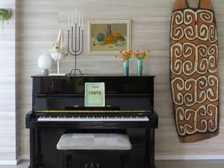 Interieurontwerp en styling woonkamer in Zuid Holland. van Mishmash Eclectisch