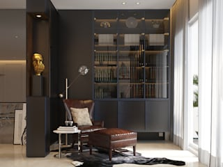 Norm designhaus Modern Study Room and Home Office